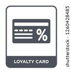 loyalty card icon vector on... | Shutterstock .eps vector #1260428485