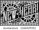 happy 2019 new year. holiday... | Shutterstock .eps vector #1260429352