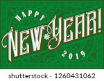 happy 2019 new year. holiday... | Shutterstock .eps vector #1260431062