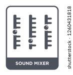 sound mixer icon vector on...   Shutterstock .eps vector #1260431818