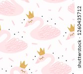 seamless nursery pattern with... | Shutterstock .eps vector #1260435712