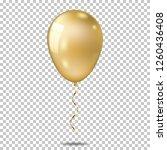 realistic gold balloon ... | Shutterstock .eps vector #1260436408
