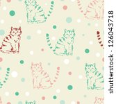 cute funny seamless pattern... | Shutterstock .eps vector #126043718