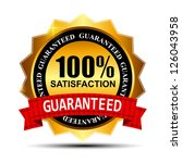 100  satisfaction guaranteed... | Shutterstock .eps vector #126043958