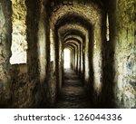 Long Stone Corridor With...