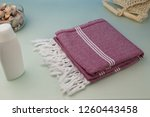 handwoven hammam turkish cotton ... | Shutterstock . vector #1260443458