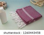handwoven hammam turkish cotton ...   Shutterstock . vector #1260443458