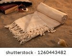 handwoven hammam turkish cotton ... | Shutterstock . vector #1260443482