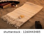 handwoven hammam turkish cotton ... | Shutterstock . vector #1260443485