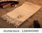 handwoven hammam turkish cotton ...   Shutterstock . vector #1260443485
