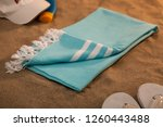 handwoven hammam turkish cotton ...   Shutterstock . vector #1260443488