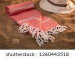 handwoven hammam turkish cotton ... | Shutterstock . vector #1260443518
