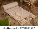 handwoven hammam turkish cotton ... | Shutterstock . vector #1260443542