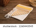 handwoven hammam turkish cotton ... | Shutterstock . vector #1260443545