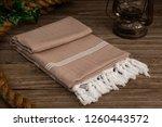 handwoven hammam turkish cotton ... | Shutterstock . vector #1260443572