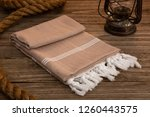 handwoven hammam turkish cotton ... | Shutterstock . vector #1260443575