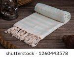 handwoven hammam turkish cotton ... | Shutterstock . vector #1260443578