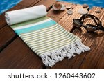 handwoven hammam turkish cotton ... | Shutterstock . vector #1260443602