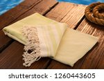 handwoven hammam turkish cotton ... | Shutterstock . vector #1260443605