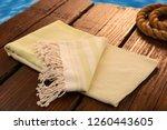 handwoven hammam turkish cotton ... | Shutterstock . vector #1260443605