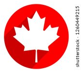 canadian flag the maple leaf... | Shutterstock .eps vector #1260449215
