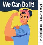 we can do it. iconic woman's... | Shutterstock .eps vector #1260453505