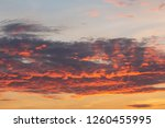 beautiful sky at sunset | Shutterstock . vector #1260455995