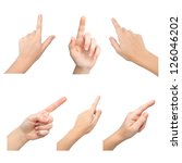 isolated female hands touch or... | Shutterstock . vector #126046202