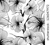 monochrome seamless pattern...   Shutterstock .eps vector #126047972