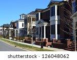 suburban american new england...   Shutterstock . vector #126048062