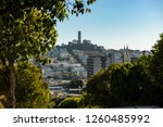 the coit tower from a high... | Shutterstock . vector #1260485992