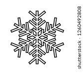 snowflake line icon. beautiful...   Shutterstock . vector #1260492808
