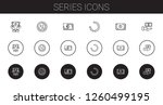 series icons set. collection of ... | Shutterstock .eps vector #1260499195