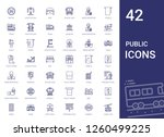 public icons set. collection of ... | Shutterstock .eps vector #1260499225