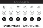 fauna icons set. collection of... | Shutterstock .eps vector #1260499288