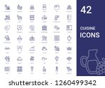 cuisine icons set. collection... | Shutterstock .eps vector #1260499342