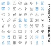 cold icons set. collection of... | Shutterstock .eps vector #1260500728
