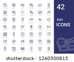 pay icons set. collection of... | Shutterstock .eps vector #1260500815