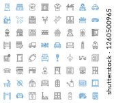 front icons set. collection of... | Shutterstock .eps vector #1260500965