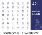analysis icons set. collection... | Shutterstock .eps vector #1260500992