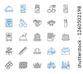 gourmet icons set. collection... | Shutterstock .eps vector #1260502198