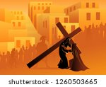 biblical vector illustration... | Shutterstock .eps vector #1260503665