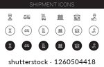 shipment icons set. collection... | Shutterstock .eps vector #1260504418