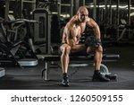 handsome young muscular... | Shutterstock . vector #1260509155