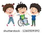 vector illustration of disabled ... | Shutterstock .eps vector #1260509392