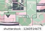 abstract collage asymmetric...   Shutterstock .eps vector #1260514675