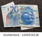 european banknote of twenty... | Shutterstock . vector #1260516118