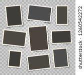 retro photo frames templates....   Shutterstock .eps vector #1260542272