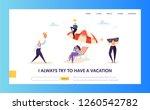 happy business characters... | Shutterstock .eps vector #1260542782