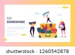 business character packing... | Shutterstock .eps vector #1260542878